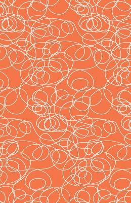 Journal Notebook Abstract Scribbles In Orange