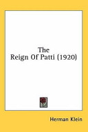 The Reign of Patti (1920)