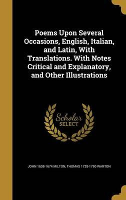 POEMS UPON SEVERAL OCCASIONS E