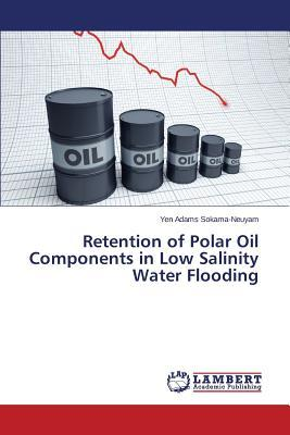 Retention of Polar Oil Components in Low Salinity Water Flooding