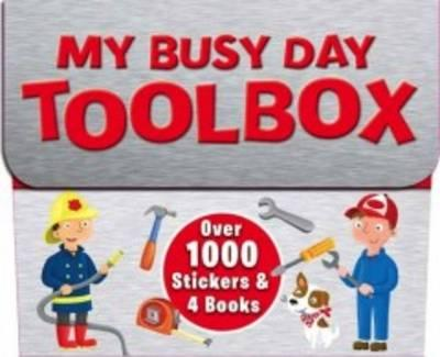 1000's of Stickers - Boys Toolbox - 4 Sticker Activity Books - Holiday Fun - Gift Pack (Igloo Books Ltd)