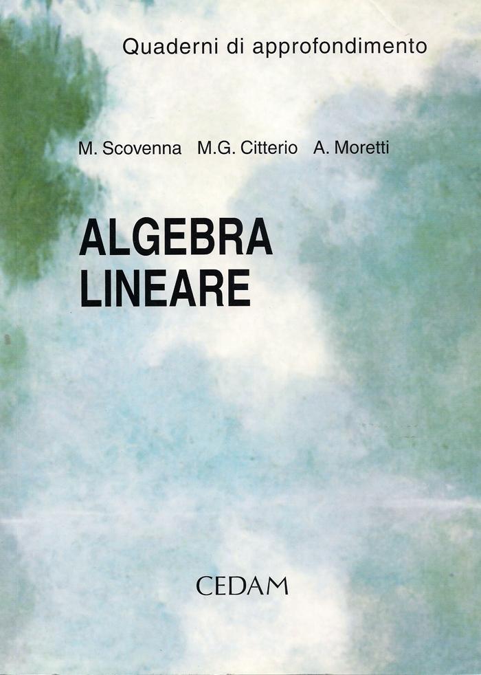 Algebra lineare. Qua...