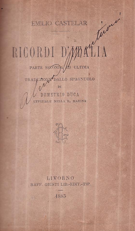 Ricordi d'Italia - Parte seconda ed ultima