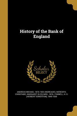 HIST OF THE BANK OF ENGLAND
