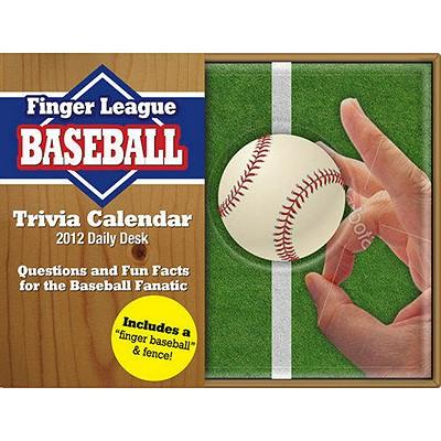 Finger League Baseball 2012 Calendar