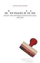 Seven Pages Missing: Previously uncollected texts, 1968-2000