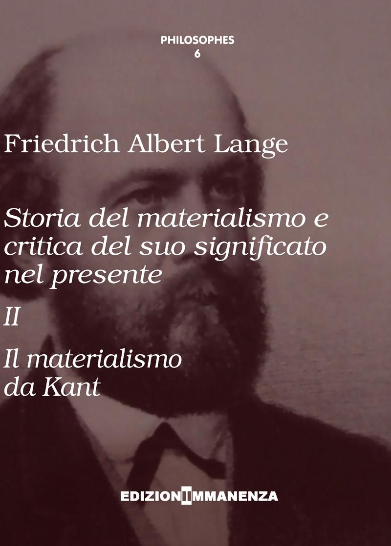 Storia del materialismo e critica del suo significato nel presente