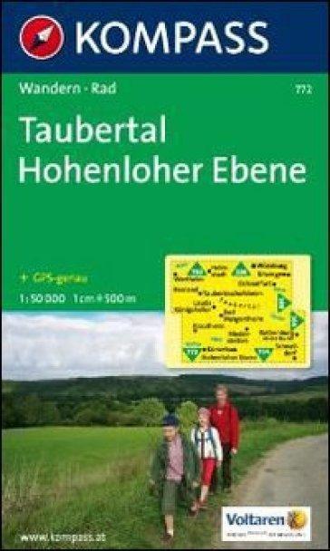 Carta escursionistica e stradale n. 772. Taubertal, Hohenloher Ebene. Adatto a GPS. DVD-ROM. Digital map