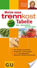 trennkost-Tabelle, Meine neue