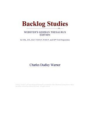 Backlog Studies (Webster's German Thesaurus Edition)