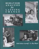 Behaviour Analysis for Lasting Change