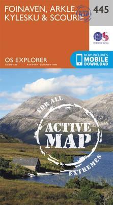 OS Explorer Map Active (445) Foinaven, Arkle, Kylesku and Scourie