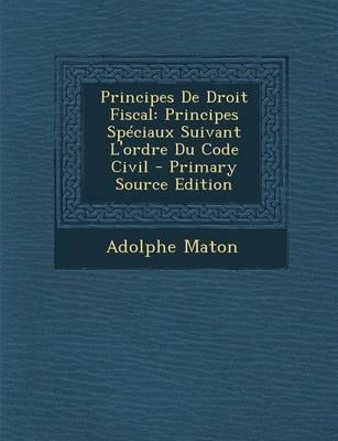 Principes de Droit Fiscal
