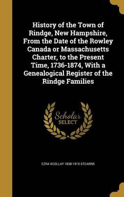 HIST OF THE TOWN OF RINDGE NEW