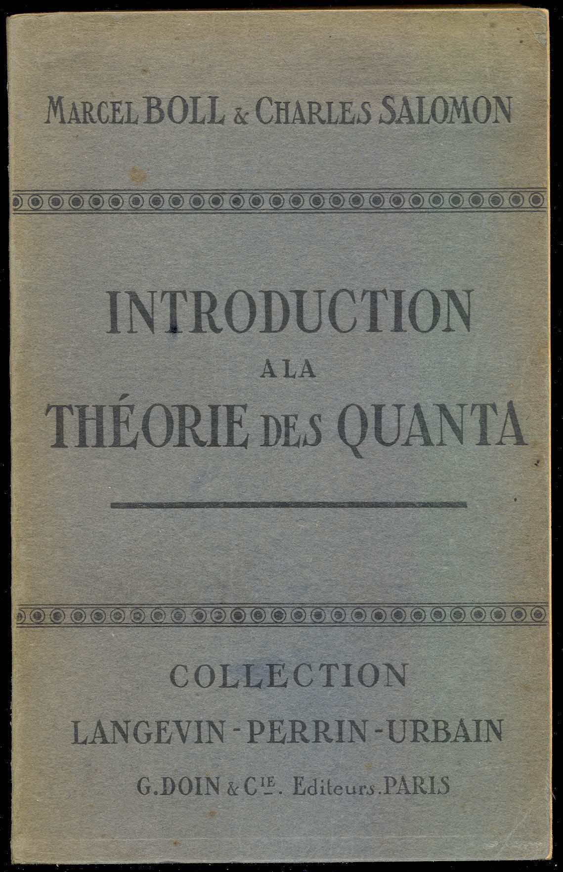 Introduction a la théorie des quanta