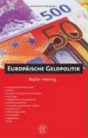 Europäische Geldpolitik