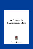 A Preface to Shakespeare's Plays