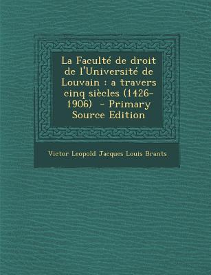 Faculte de Droit de L'Universite de Louvain
