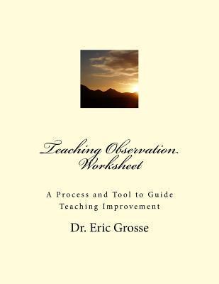 Teaching Observation Worksheet