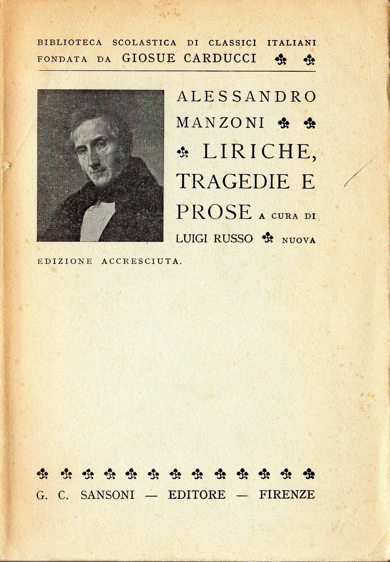 Liriche, tragedie e prose