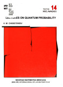 Lectures on quantum probability