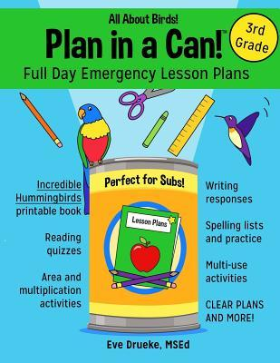 Plan in a Can! Full Day Emergency Lesson Plans for 3rd Grade
