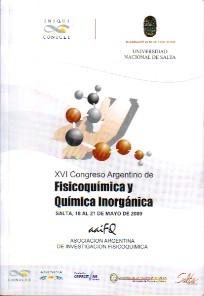 XVI Congreso Argentino de Fisicoquímica y Química Inorgánica