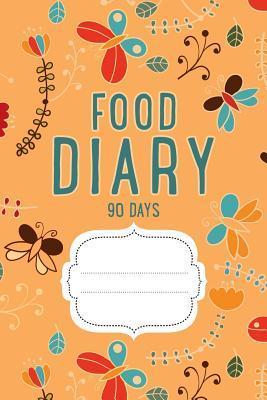 Food Diary 90 Days Journal Orange