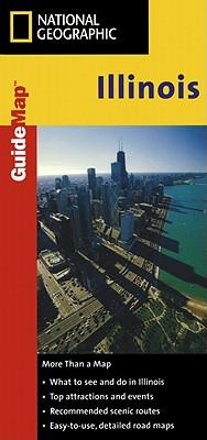 National Geographic State Guide Map Illinois