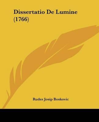 Dissertatio de Lumine (1766)