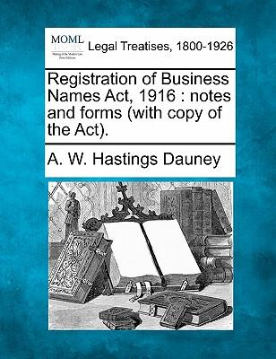 Registration of Business Names ACT, 1916