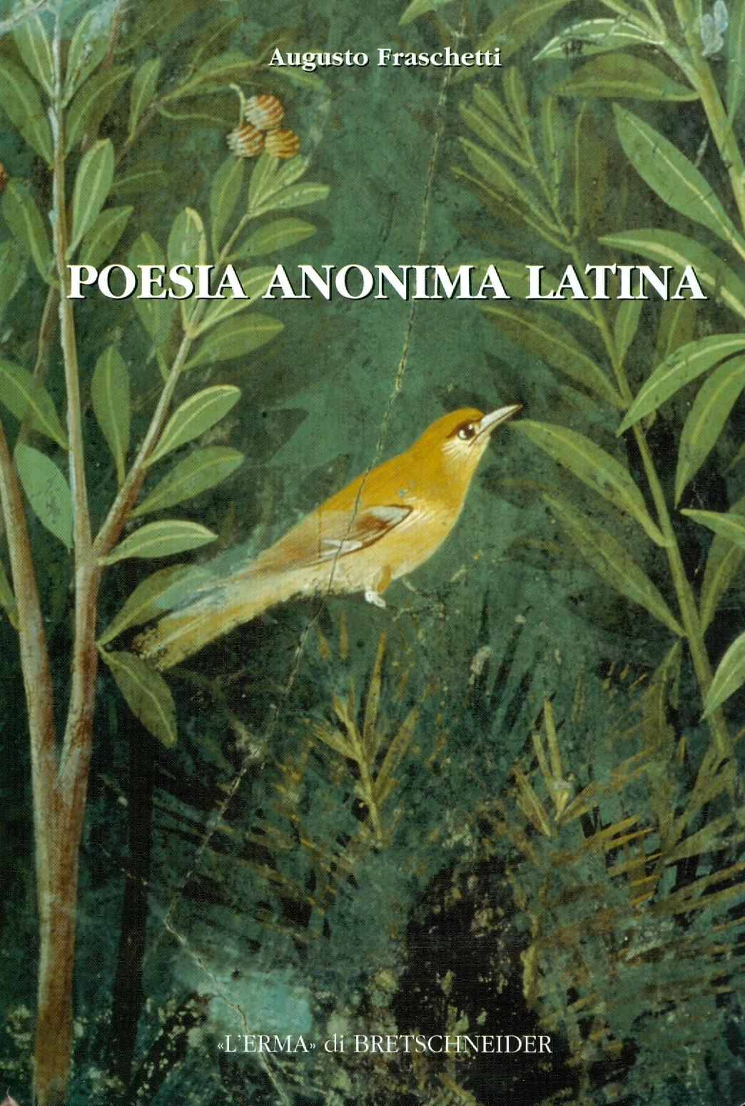 Poesia anonima latina