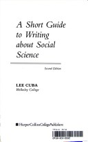 A Short Guide to Writing About Social Science