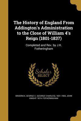 HIST OF ENGLAND FROM ADDINGTON