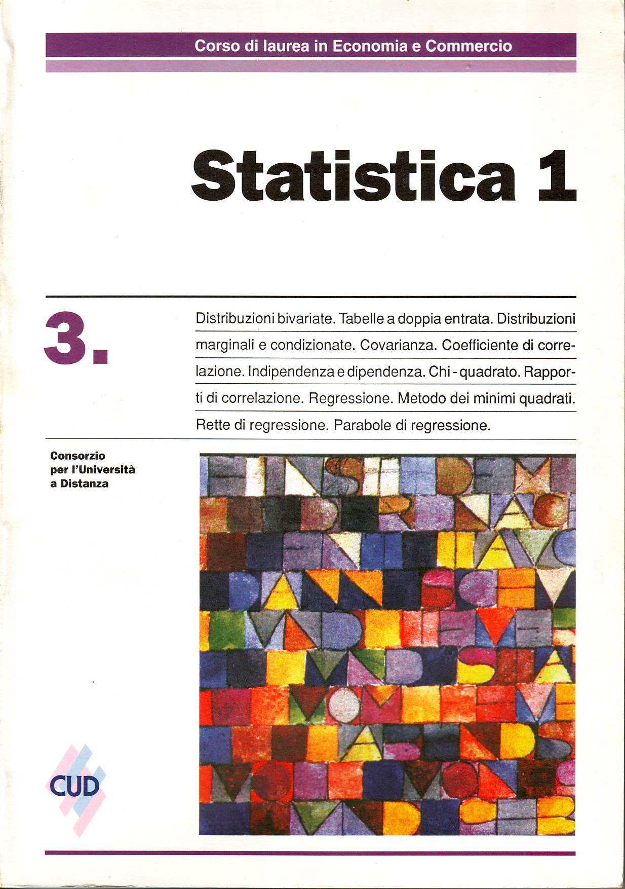 Statistica 1 - Vol. 3