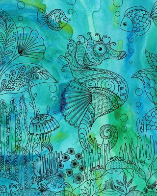 Journal Notebook Seahorse Drawing 2