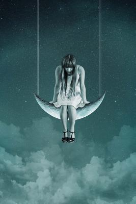 Woman Swinging on the Moon Art Journal