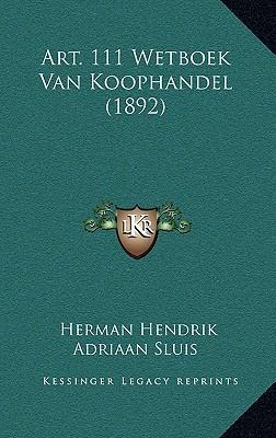 Art. 111 Wetboek Van Koophandel (1892)
