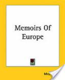 Memoirs of Europe