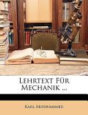 Lehrtext Für Mechanik