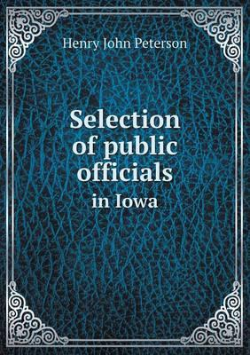 Selection of Public Officials in Iowa
