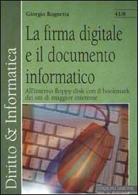 Firma digitale e documento informatico