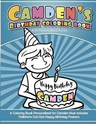 Camden's Birthday Coloring Book Kids Personalized Books