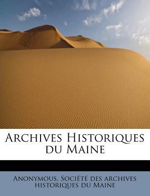 Archives Historiques Du Maine