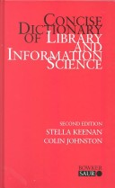 Concise Dictionary of Library and Information Science