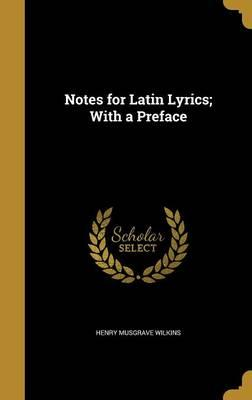 NOTES FOR LATIN LYRICS W/A PRE