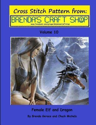 Female Elf and Dragon Cross Stitch Pattern