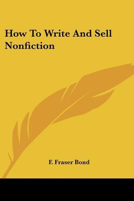 How to Write and Sell Nonfiction