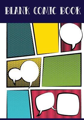 Blank Comic Book Panelbook - 7 Panel, 5 Speech Bubble