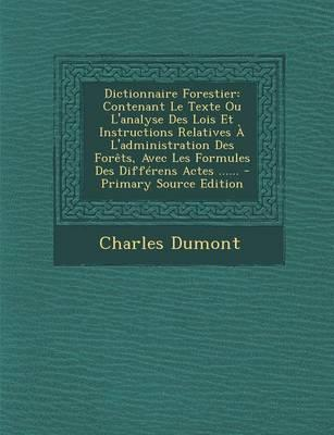Dictionnaire Forestier